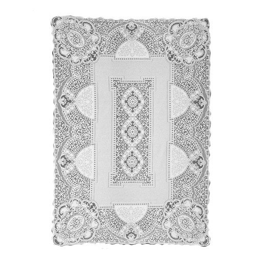 Heritage Lace Canterbury Classic 70-Inch by 108-Inch Rectangle Tablecloth, Ecru
