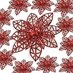BANBERRY-DESIGNS-Poinsettia-Ornaments-Holiday-Decorations-Artificial-Poinsettia-Ornaments