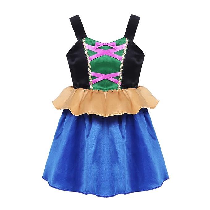 CHICTRY Vestido de Princesa para Bebé Niña (1-6 Años) Disfraz de Infantil