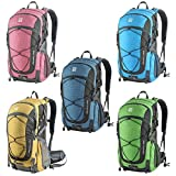 Duhud 40L Internal Frame Hiking Backpack Lightweight Backpacking Packs Camping Daypack for Outdoor Sports Travel Climbing Trekking Mountaineering with Rain Cover D010832