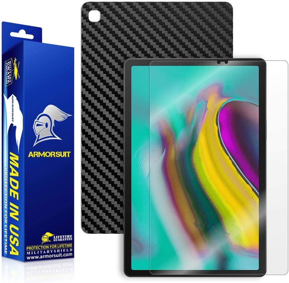 Skinomi Black Carbon Fiber Skin Cover for Samsung Galaxy Tab S5e 10.5 SM-T725