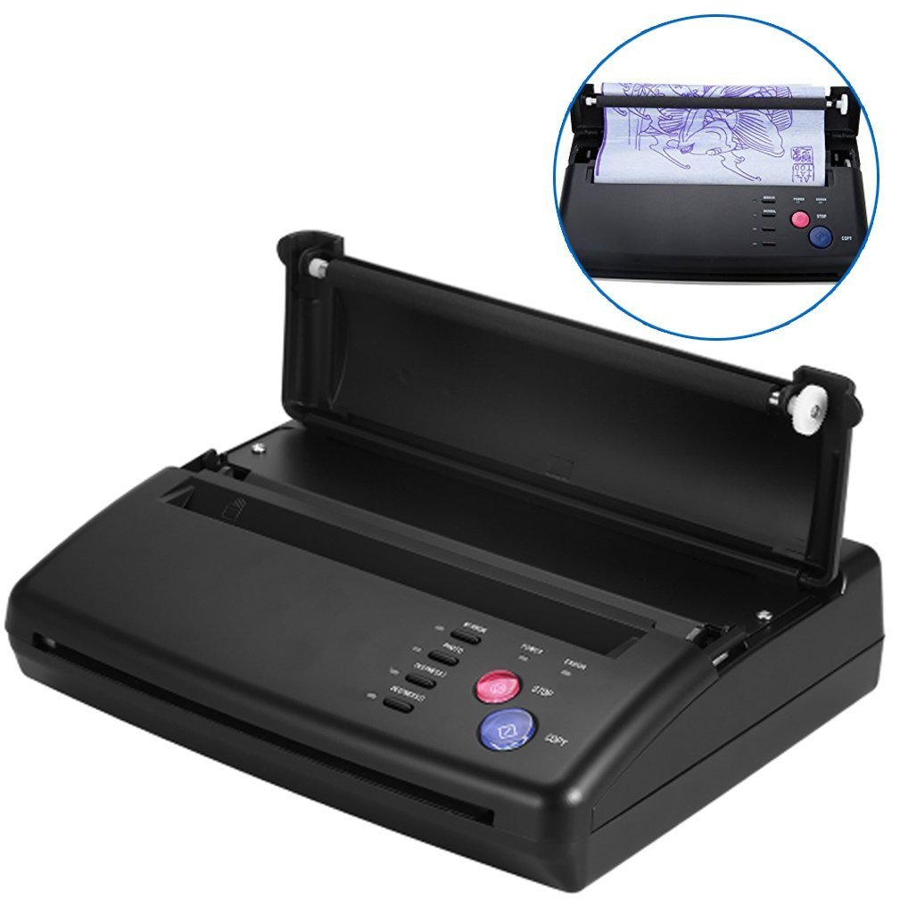 Tattoo Transfer Copier Thermal Stencil Printer Machine + Stencil Papers(US Plug) by Semme