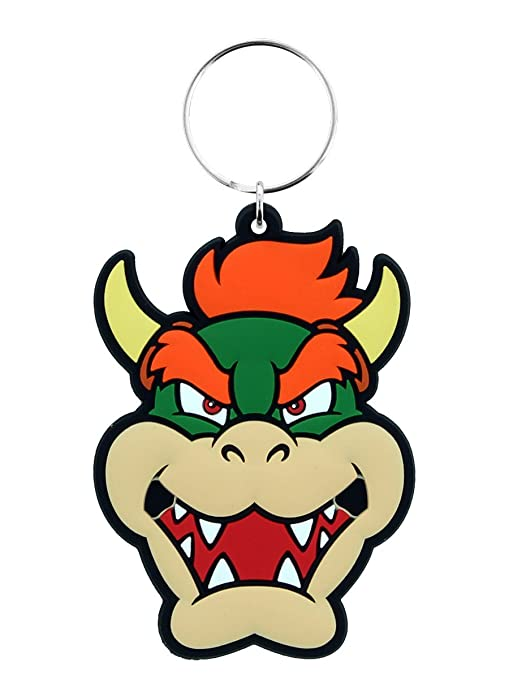Key chain Super Mario - Llavero de Goma Bowser: Amazon.es: Hogar