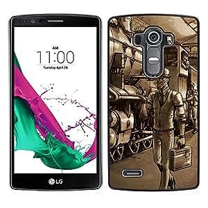 A-type Arte & diseño plástico duro Fundas Cover Cubre Hard Case Cover para LG G4 (Gentleman Spy - Juegos Juego Tf)