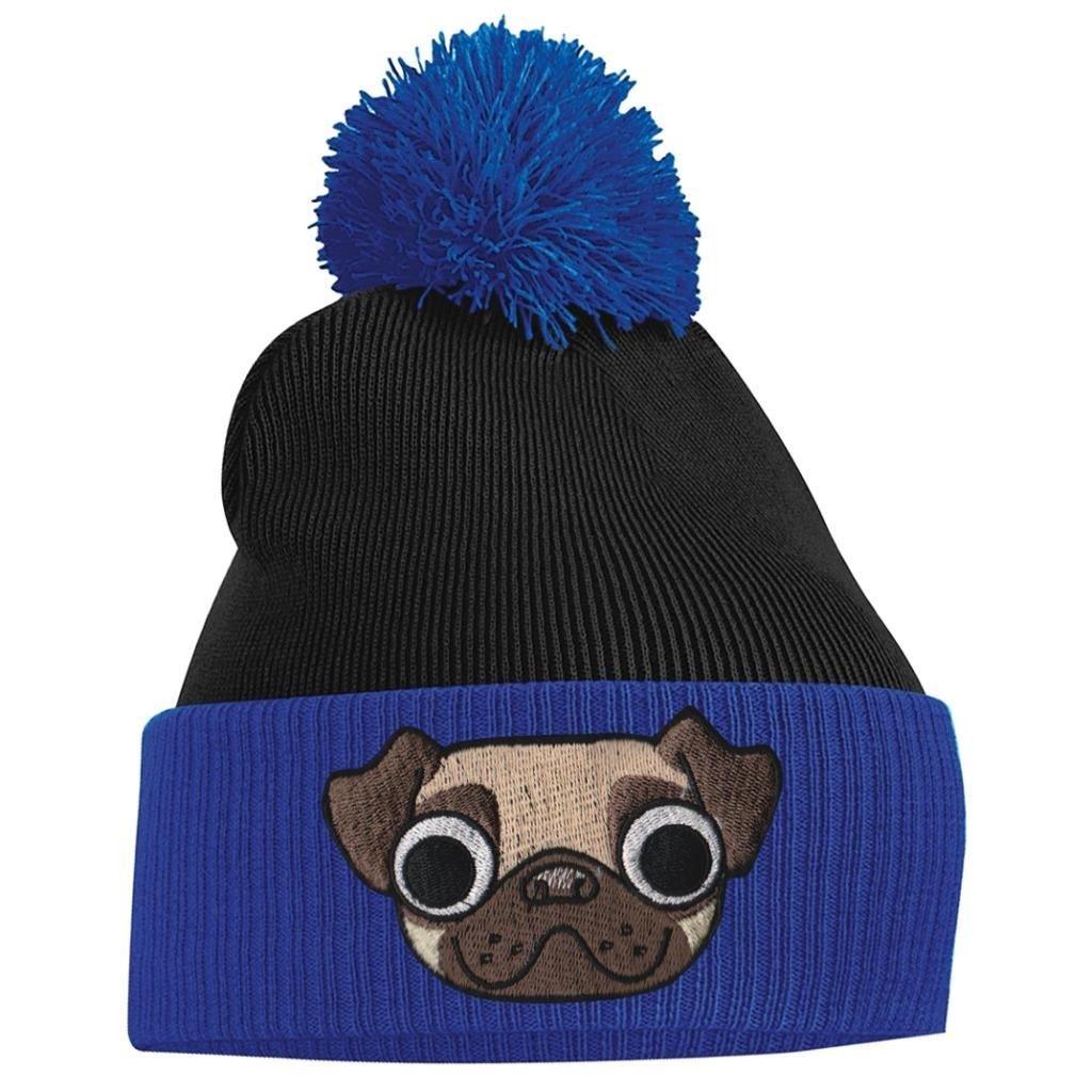 Amazon.com  Bang Tidy Clothing Women s Pom Pom- Pug Puppy Dog - Fuschia and  French Navy  Clothing 31e075cb05