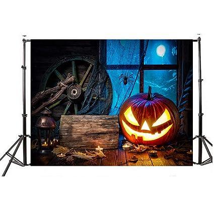 JiaMeng Decoración del hogar Fondos de Halloween Calabaza Vinilo 5x3FT Fondo de fotografía de Fondo de