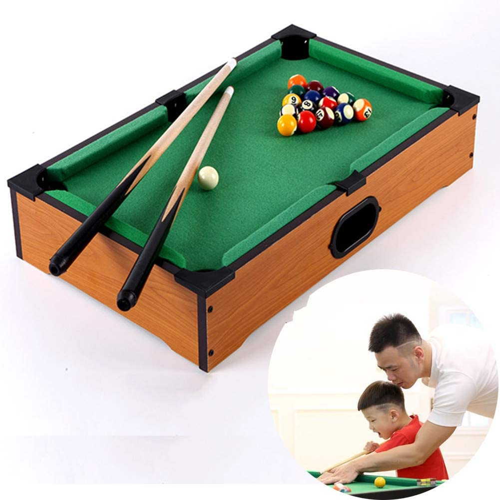 AFF Mini Tabletop Ball Billiards Kids Home Juego de Billar Snooker Tables Pool Table Game Pool Cue Stick Stick Balls Juego de Juguete para niños: Amazon.es: Hogar