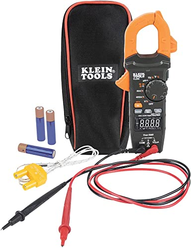 Klein Tools CL390 Digital Clamp Meter, Auto Ranging 400 AMP Measures Electronic AC DC Voltage AC DC Current Resistance and TRMS