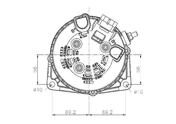 Delco Self Exciting Alternator Wiring Diagram
