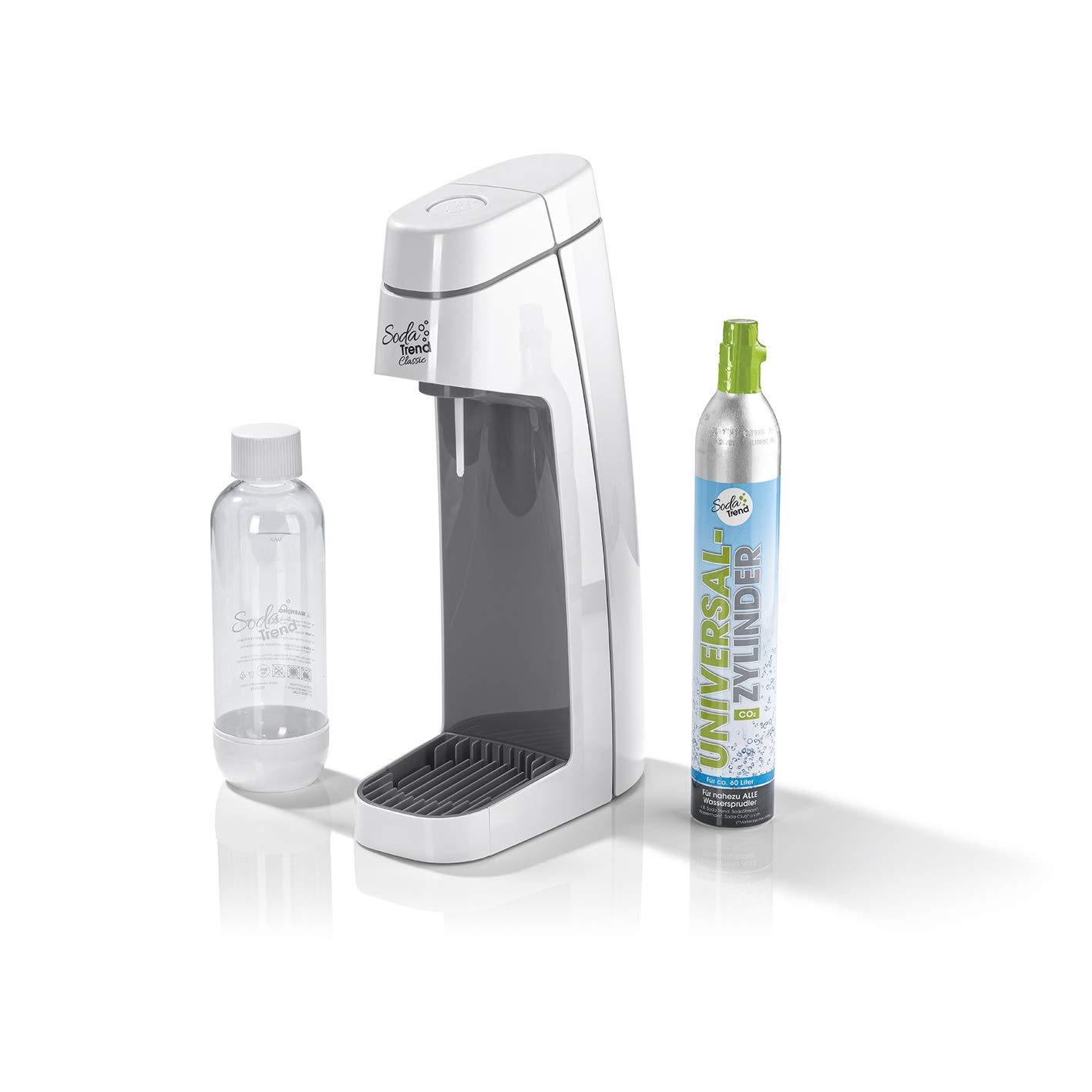 SodaStream Trend 06281 Soda Classic, color blanco Incluye Pet botella de 850 ml y CO2 Cilindro 60L | dispensador de agua para de agua de burbujas | Soda ...