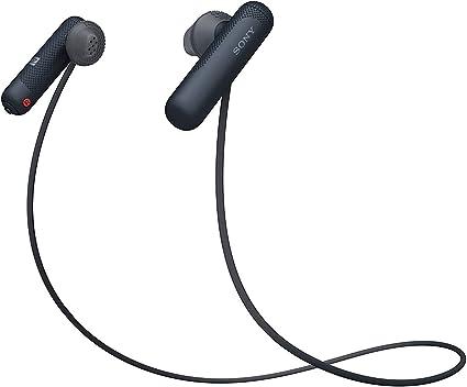 Amazon Com Sony Wi Sp500 Wireless In Ear Sports Headphones Bluetooth Earbuds Black International Version Home Audio Theater