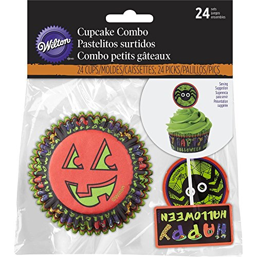 Wilton Spider Halloween Cupcake Decorating (Wilton Halloween Cupcake Kits)