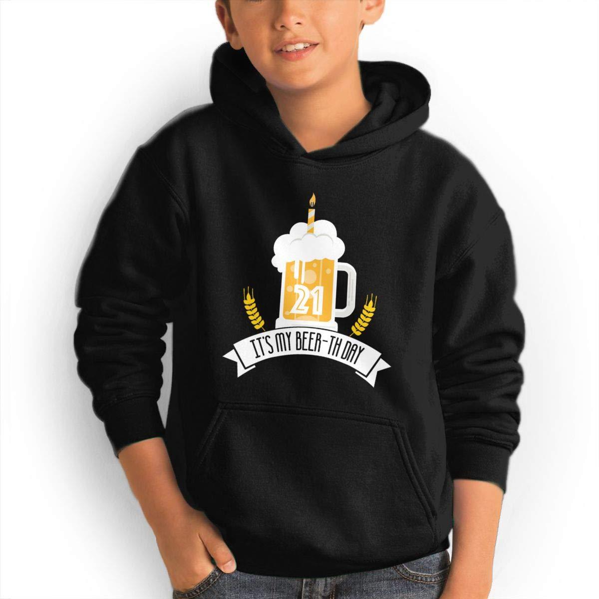 GUFEIFEIN Its My Beer-th Day Youth Boys/Girls Hoodie Sweatshirt Hooded with Pocket by GUFEIFEIN