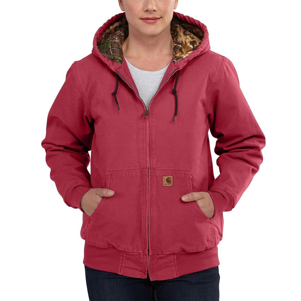 Carhartt Women's Sandstone Active Jacket Camo Lined, Crab Apple, Small