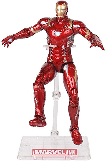 Gyh Marvel Avengers 18 5 Cm Iron Man Captain America Modele De Main Poupee Peut Etre Deplace Avec Des Supports Pour Jouer Couleur A Amazon Fr Cuisine Maison