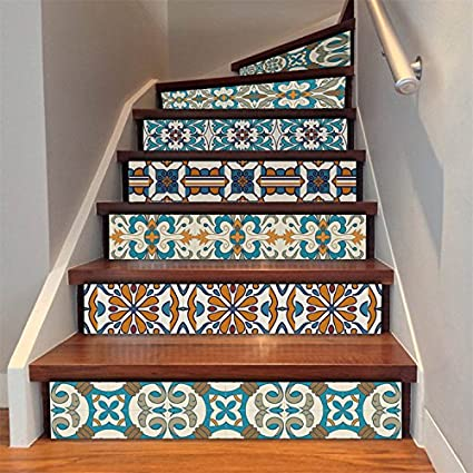 Beau AmazingWall Stair Sticker Self Adhesive Tiles Decal 3D Mural Art Home  Decoration Peel And Stick 7.1