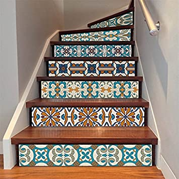 Amazon Com Amazingwall Stair Sticker Self Adhesive Tiles Decal 3d