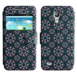 LEOCASE flores de color rosa Funda Carcasa Cuero Tapa Case Para Samsung Galaxy S4 Mini I9190 No.1003550