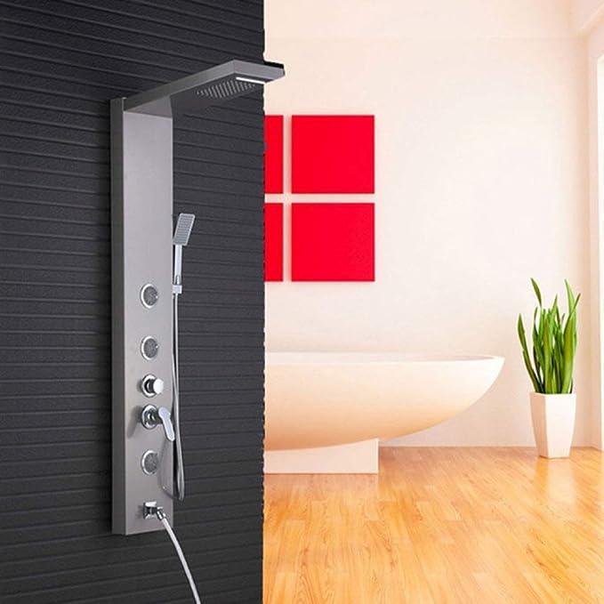 Fácil de instalar Ducha ducha ducha de cascada Panel Columna de ...