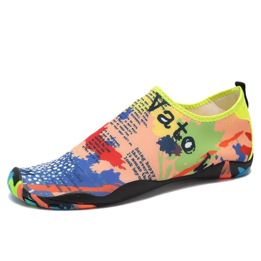 GSHAレディースメンズAquaシューズSwimサーフィン靴クイック乾燥スポーツ靴 7.5-8US-foot length:260mm Map Color B07BRF28SG