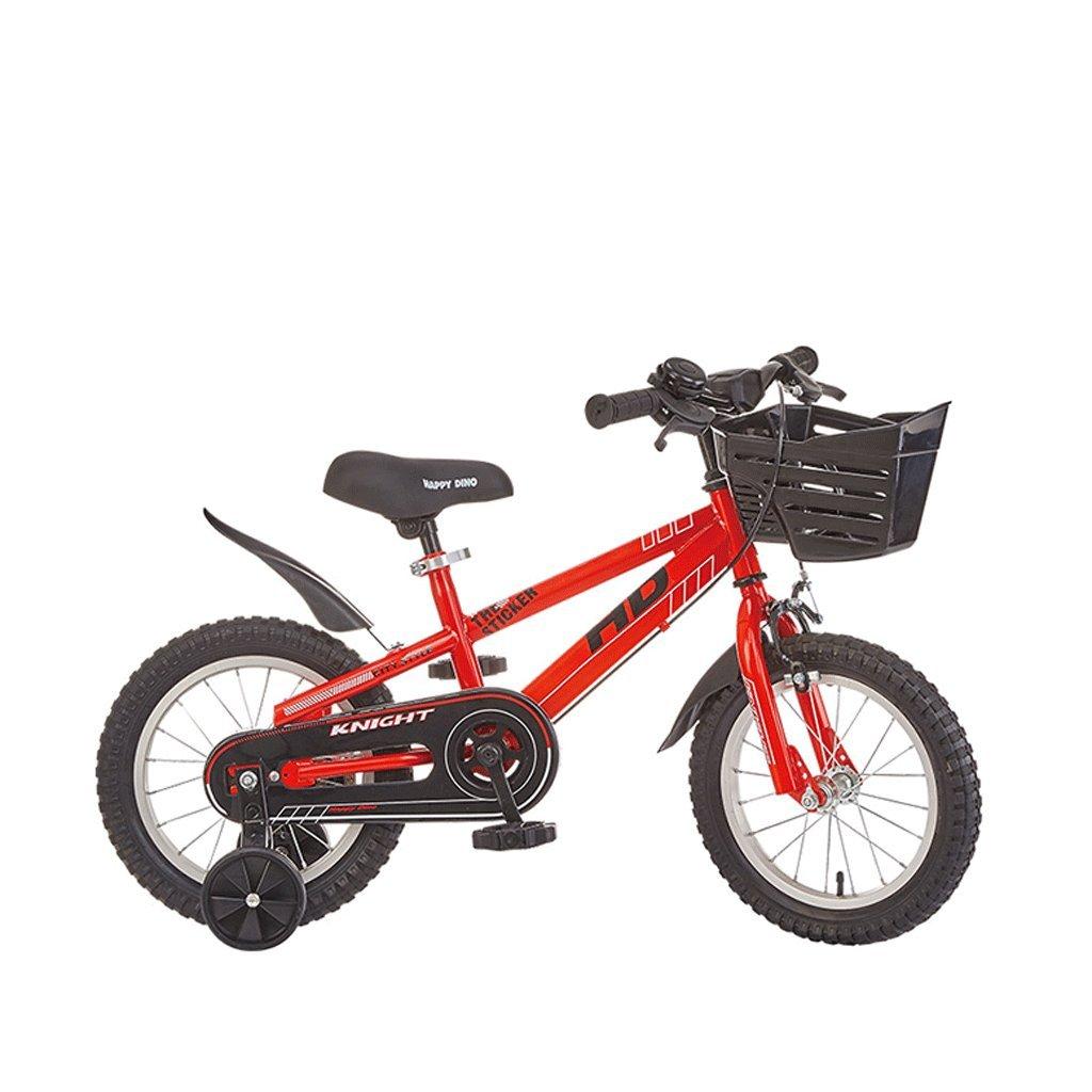 子供の自転車3-12歳の赤ちゃんのキャリッジの男の子と女の子の自転車マウンテンバイク (色 : 赤, サイズ さいず : 12インチ) B07D9JLBR1赤 12インチ
