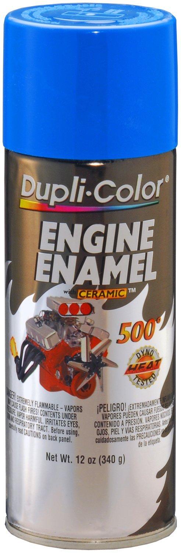 Dupli-Color (EDE160107-6 PK Ford Blue Engine Enamel with Ceramic - 12 oz. Aerosol, (Case of 6)