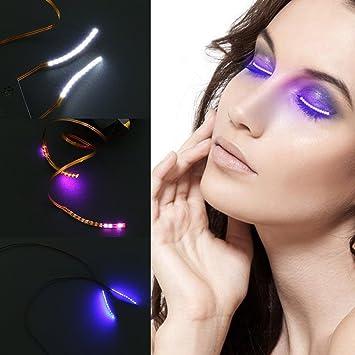 e1913fcc934 Jesban LED Eyelashes, Waterproof LED F. Lashes Glowing False Eye lashes  Music Sound Control