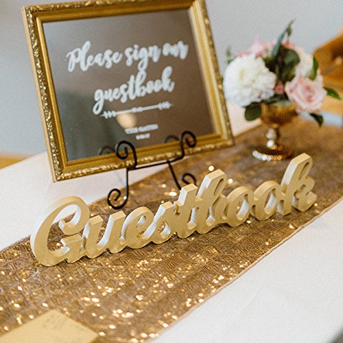 Amazon Com Wooden Guestbook Sign For Wedding Table