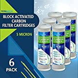 Carbon Block Water Filter 6 Block Activated Carbon 5 Micron Water Filters Set