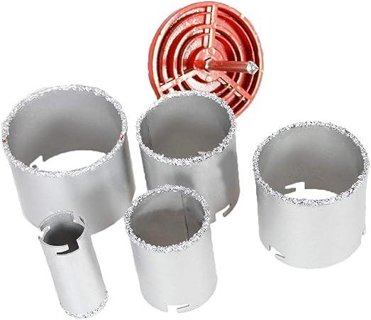 122178 Ensemble De Scie Cloche Pour Tungstene Trepan De Forage Carrelage Mural Kit De Coupe En Ceramique 33 83mm Amazon Fr Bricolage