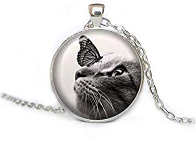 sea-maiden - Collar de Gato y Mariposa, joyería para Gatos, Regalo ...