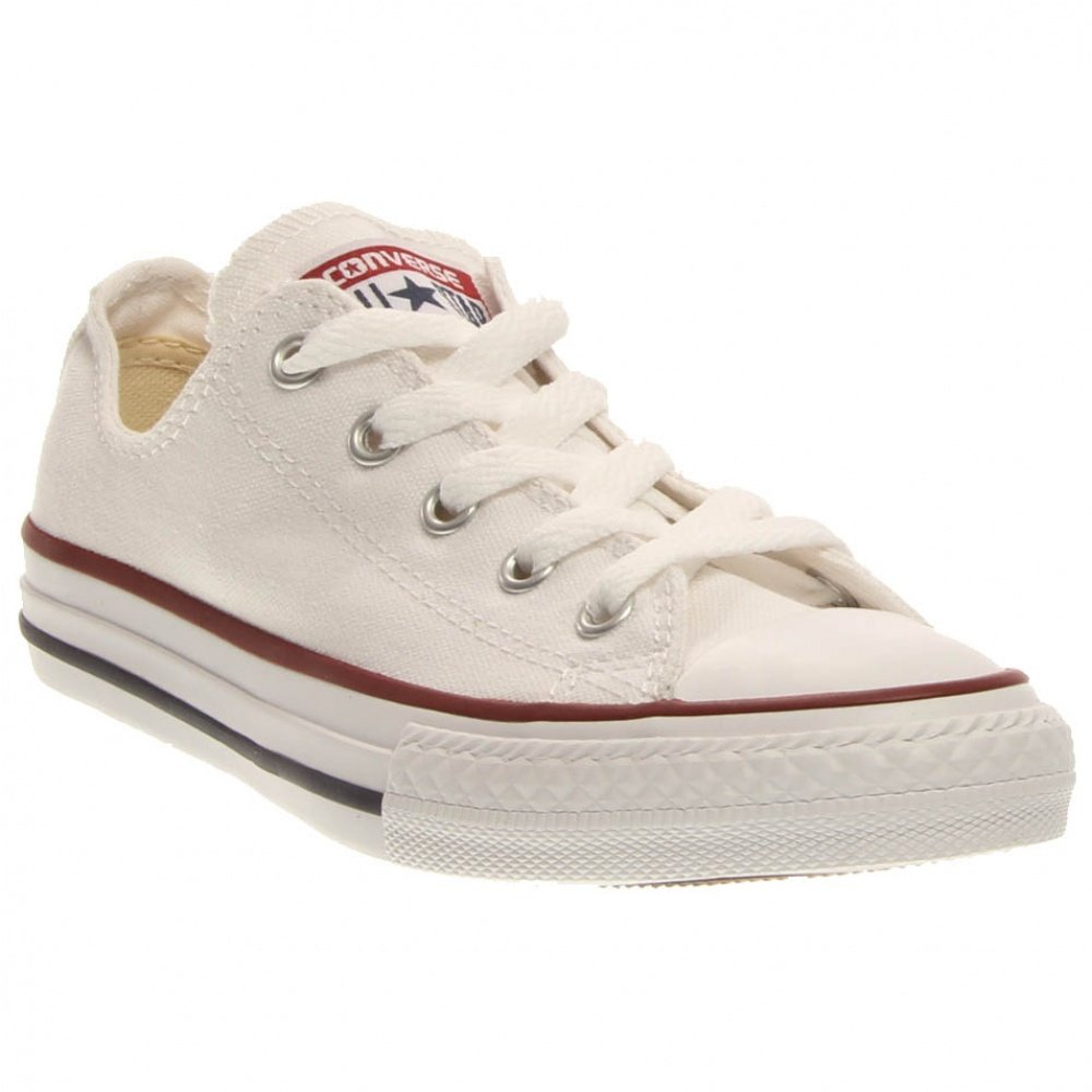 Converse Little Kid Chuck Taylor All Star Classic Ox Low Top Shoes - Optical White, Optical White, 13.5 Little Kid