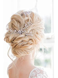 7b20eb6b4921 Fxmimior nuziale capelli accessori capelli gioielli Cystal matrimonio  cristallo pettine da sposa copricapo di strass (