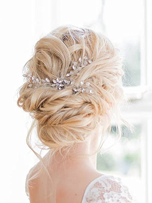 nouveau style 1cc4f 4a2c2 Fxmimior mariée Accessoires Cheveux Mariage Cristal Bijoux ...