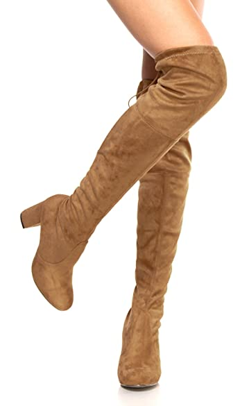 Amazon.com | OLIVIA K Womens Thigh High Boots Over The Knee Party ...