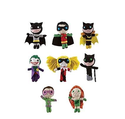 a65f19674a Amazon.com  DC Comics BATMAN String Dolls (Set of 8)  Toys   Games