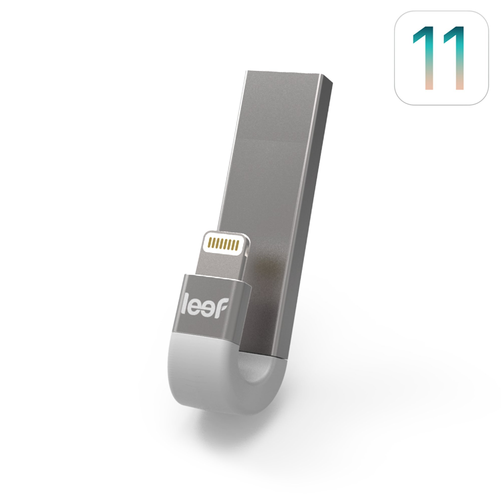 Leef iBridge 3 - iPhone Flash Drive 128GB (Silver White) - Expanded Memory for iPhone and iPad by Leef
