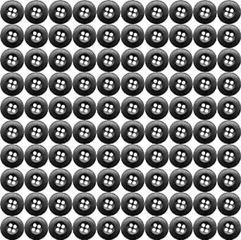 Military BDU Buttons for BDU Pants or BDU Shirts (100 Pack) (Black)
