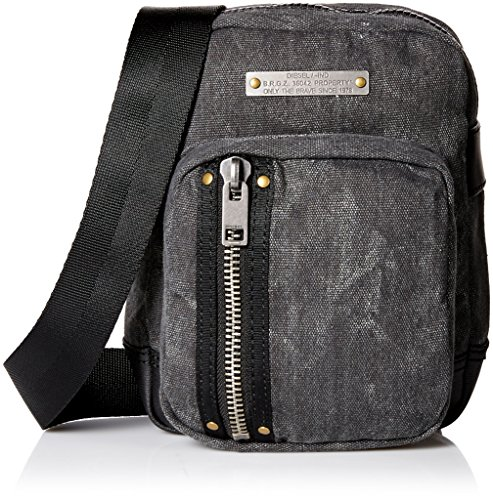 Price comparison product image Diesel Men's Superrgear Touch Gear Crossbody Bag, Treated Black/Black