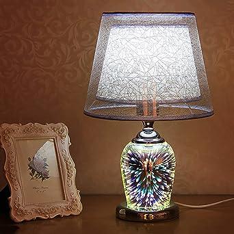 E27 Moderna Creativo Lámparas de mesa Dormitorio, 3d Lamparas de ...