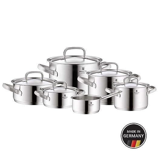 WMF batería de Cocina 6 Piezas Olla Olla Cazo Gourmet Plus ...