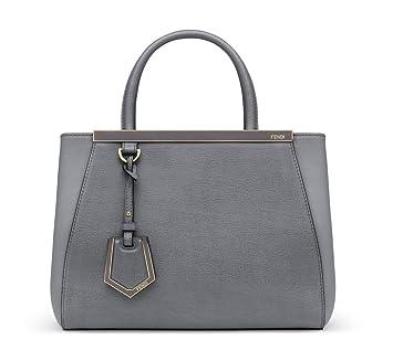 Amazon.com   Fendi Womens 2Jours Tote Bag in Grey Leather Handbag Purse  8BH253 F0A00 W41   Baby 2b2e6c00b