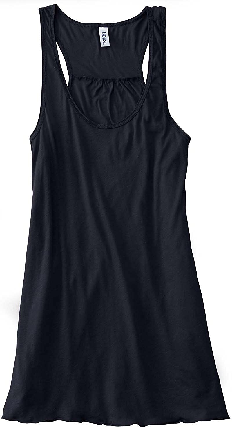 70fc336d9c3d56 Bella Ladies Flowy Racerback Tank at Amazon Women s Clothing store