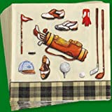 IHR Golf club classics cream Luxury paper napkins new 20