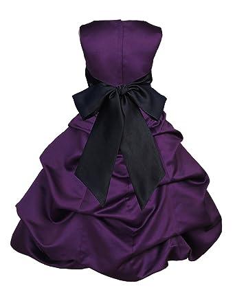ec3990896 Wedding Pageant Purple Flower Girl Dress Easter Bridesmaid Toddler 806s 2