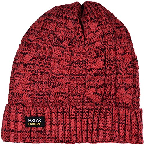 Women's Polar Extreme Insulated Thermal Knit Cuffed Beanie in 4 Great Colors (Red) -