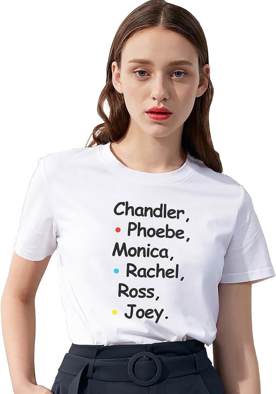 Camiseta Friends TV Show Fan Logo Shirt Mejor Amiga Impresión T-Shirt Best Friend para Mujer Verano Regalo de Cumpleaños Elegante Blanco: Amazon.es: Ropa y accesorios
