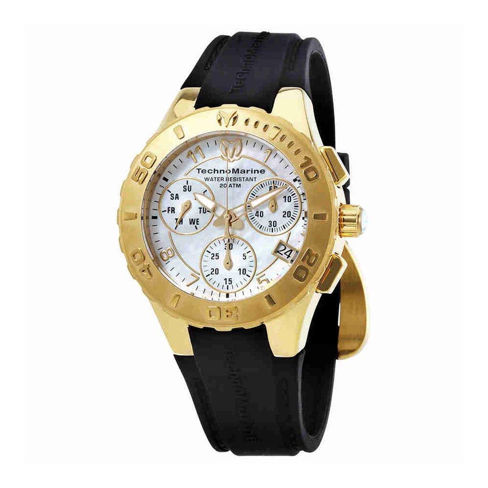 TechnoMarine Cruise Medusa Chronograph White Dial Ladies Watch 115087