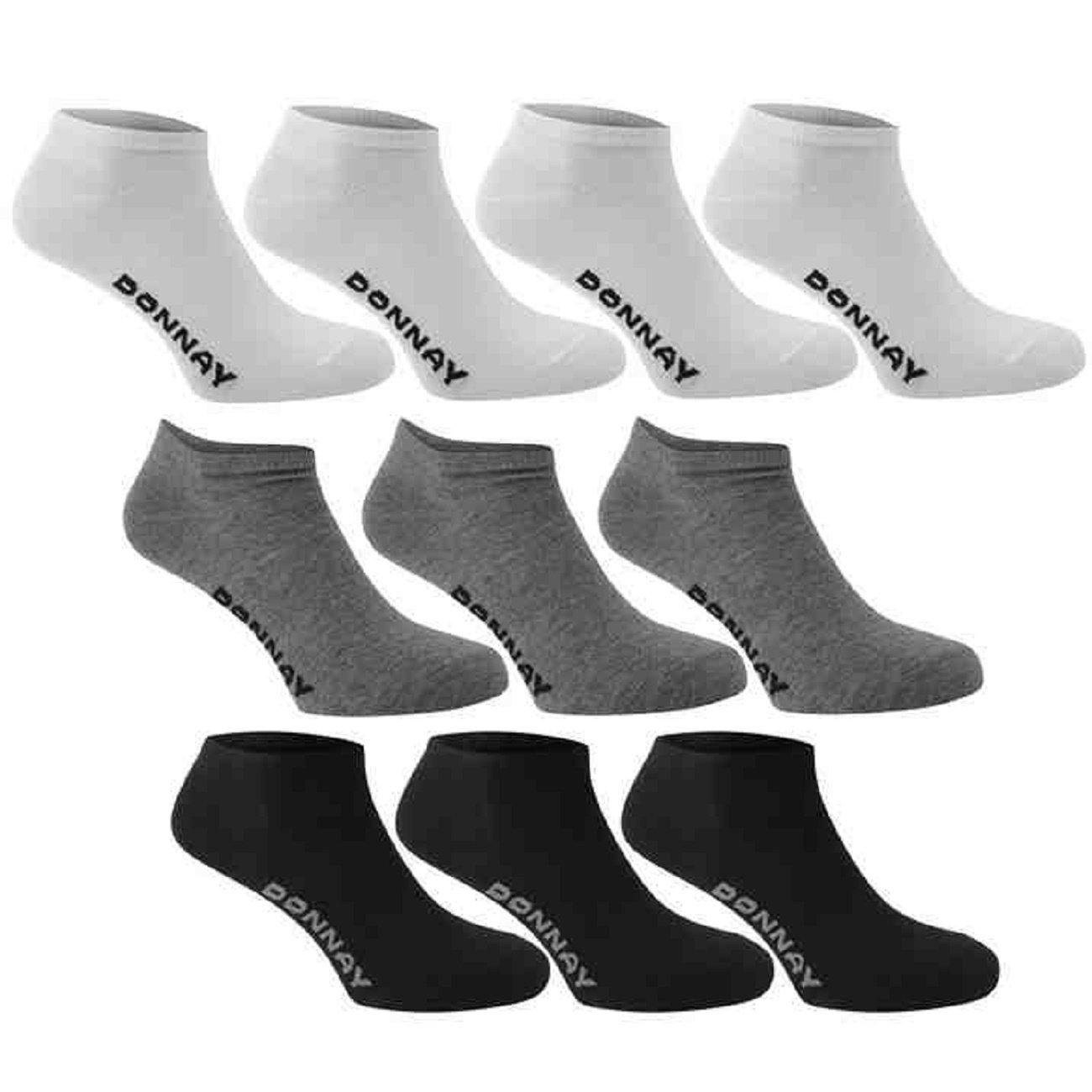 Calcetines deportivos Donnay, hasta el tobillo, para hombre, mujer y niño, 10 pares