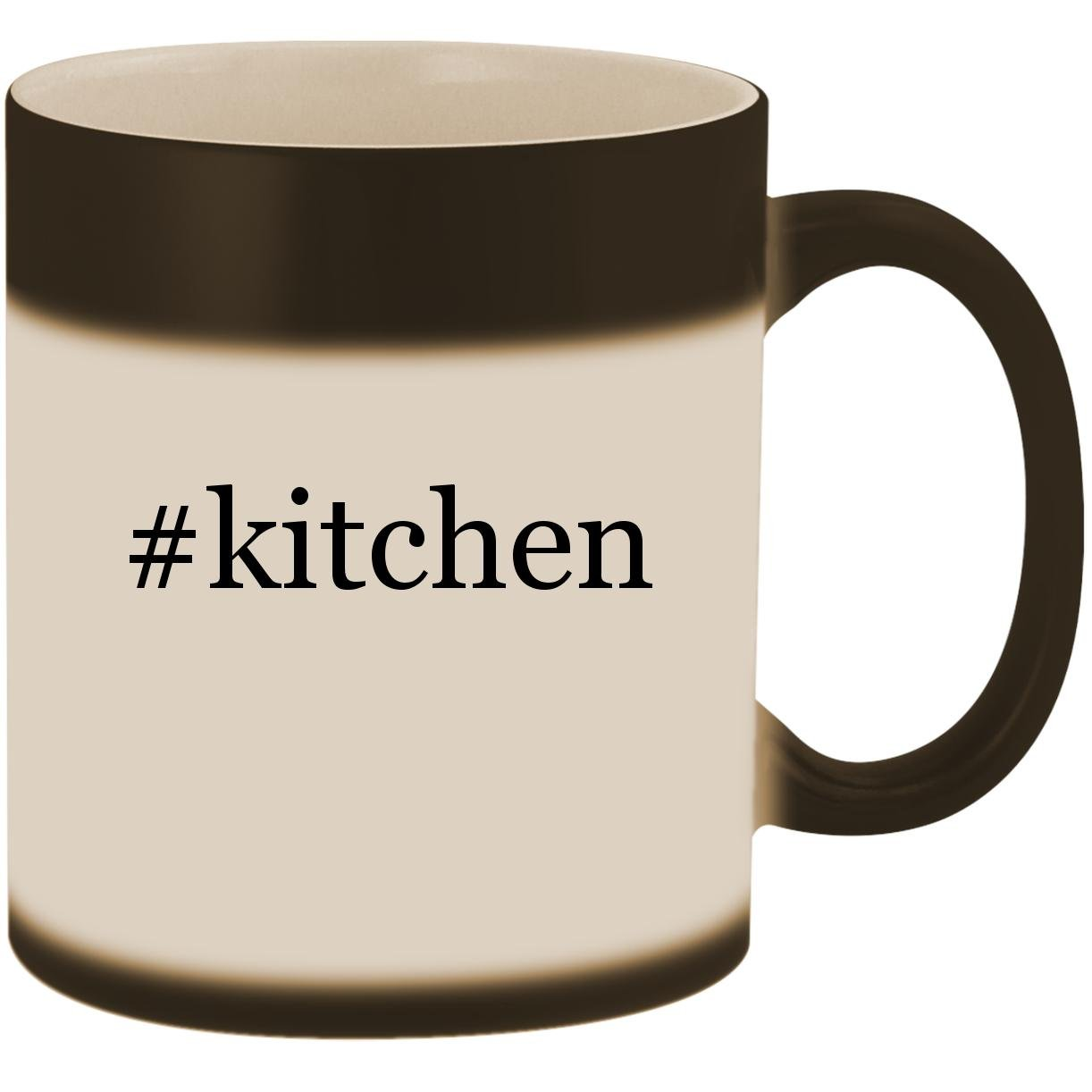 #kitchen - 11oz Ceramic Color Changing Heat Sensitive Coffee Mug Cup, Matte Black